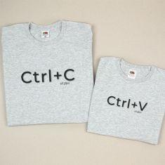 Pack 2 Camisetas Divertidas Papá CTRL+C / CTRL+V