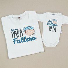 Pack 2 Camisetas Divertidas Soy un Papá Fallero/ Soy Fallero como mi Papá