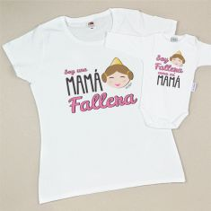 Pack 2 Camisetas Divertidas Soy una Mamá Fallera/ Soy Fallera como mi Mamá