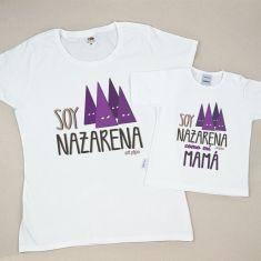 Pack 2 Camisetas Divertidas Soy Nazarena/ Soy Nazarena como mi Mamá