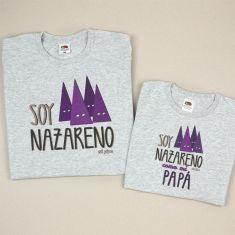 Pack 2 Camisetas Divertidas Soy Nazareno/ Soy Nazareno como mi Papá