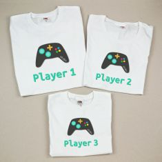 Pack 3 Camisetas Divertidas Player 1/Player 2/ Player 3