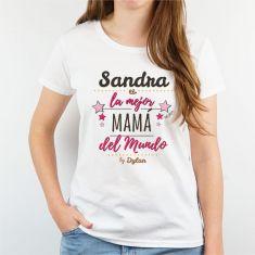 Camiseta o Sudadera Personalizada (nombre Mamá) La mejor Mamá del mundo, by (nombre/s hijo/s)
