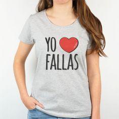 Camiseta Divertida Mamá Yo corazón Fallas