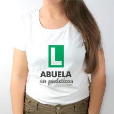 Camiseta Divertida Abuela en prácticas verde