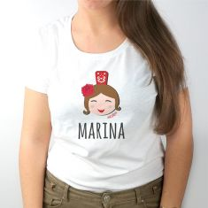 Camiseta Personalizada Mamá Niña feria + nombre