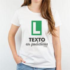 Camiseta Personalizada Mujer (Texto libre) en prácticas verde