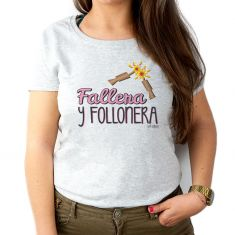 Camiseta Divertida Mamá Fallera y Follonera