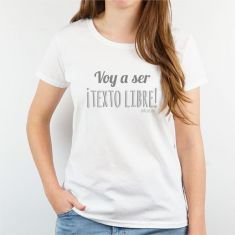 Camiseta o Sudadera Personalizada Mujer Voy a ser (texto libre)