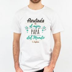 Camiseta Personalizada (nombre Papá) El mejor Papá del mundo, by (nombre/s hijo/s)