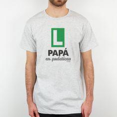 Camiseta Divertida Papá en prácticas verde