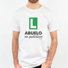 Camiseta Divertida Abuelo en prácticas verde