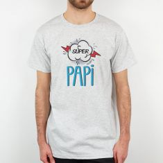 Camiseta Divertida Papá Super Papi