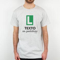 Camiseta Personalizada Hombre (texto libre) en prácticas verde