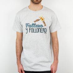 Camiseta Divertida Papá Fallero y Follonero