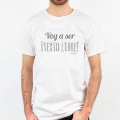 Camiseta Personalizada Hombre Voy a ser (texto libre)