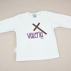 Camiseta Personalizada Bebé nombre + Cruz