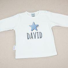 Camiseta Personalizada Bebé Nombre + Estrella Azul