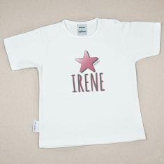 Camiseta o Sudadera Bebé y Niño/a Personalizada Estrella Rosa
