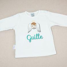 Camiseta Personalizada Bebé Nombre + Angelito