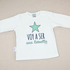 Camiseta Divertida Bebé Voy a ser una Estrella