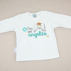 Camiseta Divertida Bebé Soy un Angelito