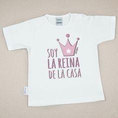 Camiseta Divertida Bebé Soy la Reina de la Casa