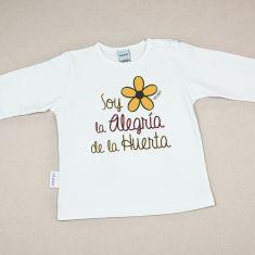 Camiseta Divertida Bebé Soy la Alegria de la Huerta