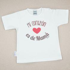 Camiseta Divertida Bebé Mi Corazón es de Mamá