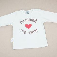 Camiseta Divertida Bebé Mi Mamá me mima