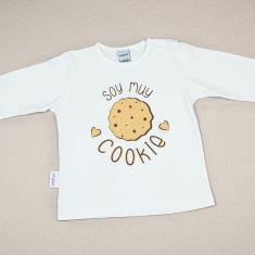 Camiseta Divertida Bebé Soy muy Cookie