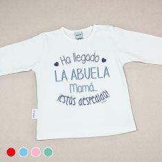 Camiseta Divertida Bebé Ha llegado la abuela, mamá, ¡estás despedida! Rojo, Menta, Azul o Rosa