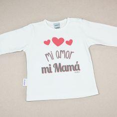 Camiseta Divertida Bebé Mi Amor, mi Mamá