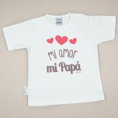 Camiseta Divertida Bebé Mi Amor, mi Papá