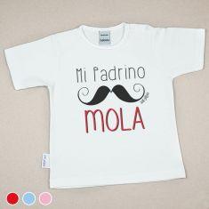 Camiseta o Sudadera Bebé y Niño/a Mi Padrino mola bigote