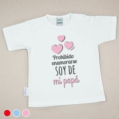 Camiseta o Sudadera Bebé y Niño/a Prohibido enamorarse, soy de mi Papá