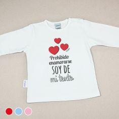Camiseta o Sudadera Bebé y Niño/a Prohibido enamorarse, soy de mi (texto)