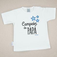 Camiseta Divertida Bebé Campeón de Papá