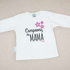 Camiseta Divertida Bebé Campeona de Mamá