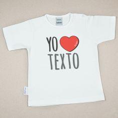 Camiseta Divertida Bebé Yo corazón (texto libre)