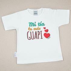 Camiseta Divertida Bebé Mi Tía la más guapi