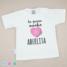 Camiseta o Sudadera Bebé y Niño/a Te quiero mucho Abuelita