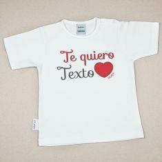 Camiseta Divertida Bebé Te quiero (texto)