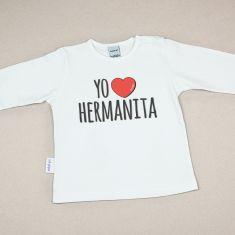 Camiseta Divertida Bebé Yo corazón Hermanita