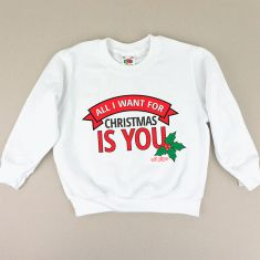 Sudadera Navideña All I want for Christmas is you