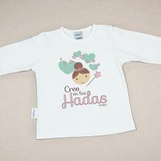 Camiseta Divertida Bebé Creo en las Hadas