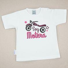 Camiseta Divertida Bebé Soy Motera