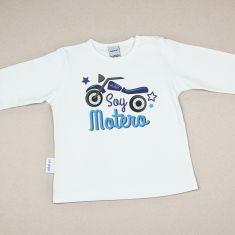 Camiseta Divertida Bebé Soy Motero