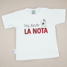 Camiseta Divertida Bebé Voy dando la nota
