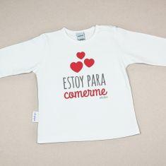 Camiseta Divertida Bebé Estoy para comermeCamiseta o Sudadera Bebé y Niño/a Estoy para comerme